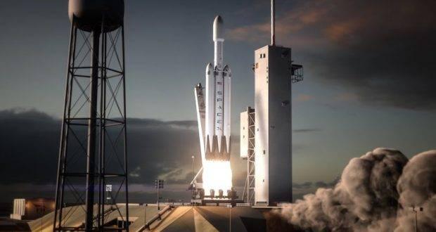 Илон Маск показал анимацию запуска Falcon Heavy