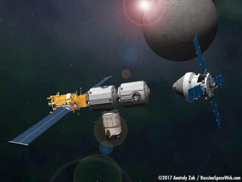 Роскосмос, NASA и EKA построят космическую станцию на орбите Луны к 2024 году