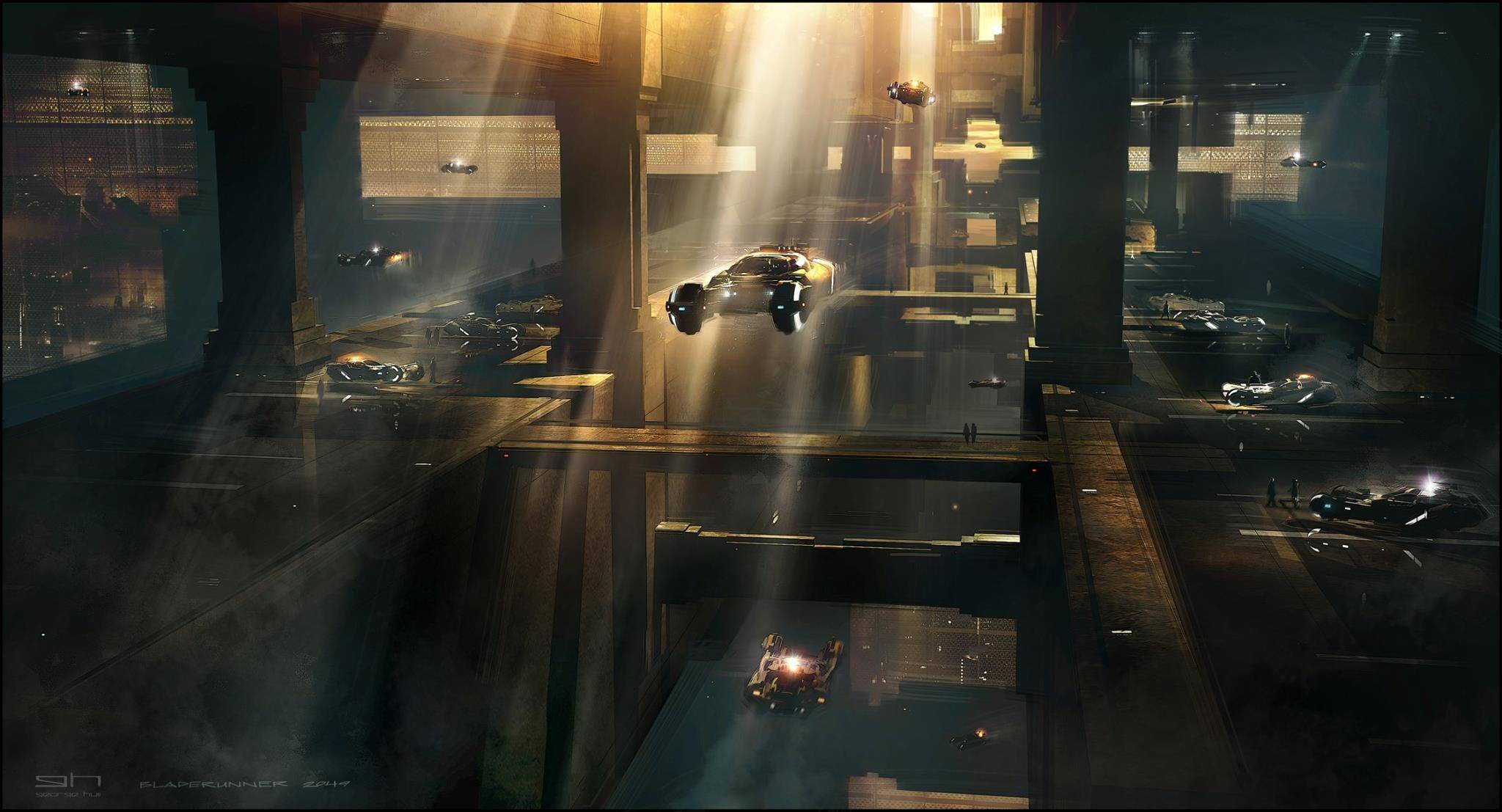Виды киберпанка: стильные концепт-арты к фильму «Бегущий по лезвию 2049» 30