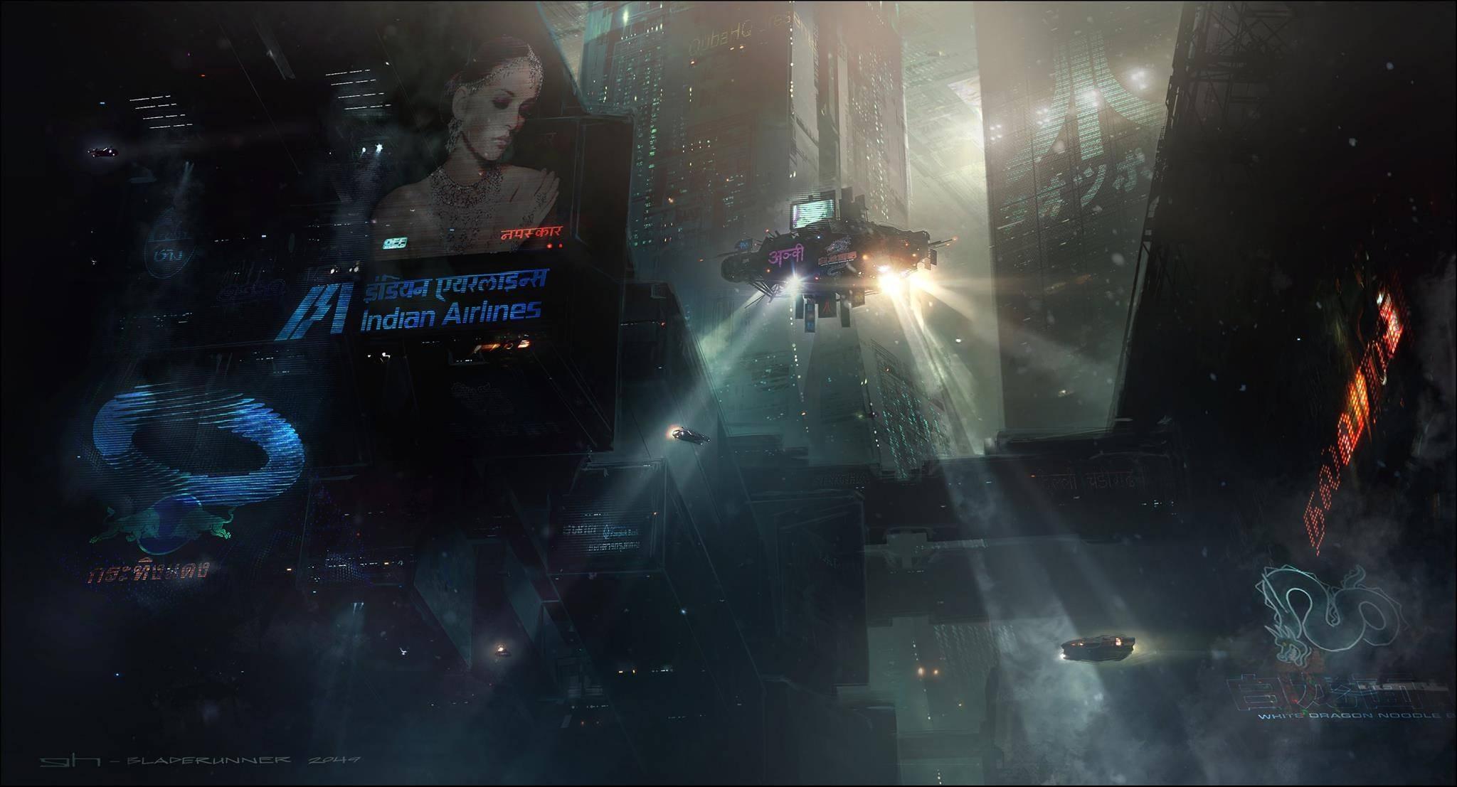 Виды киберпанка: стильные концепт-арты к фильму «Бегущий по лезвию 2049» 26