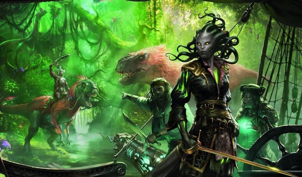 Динозавры, пираты и вампиры: в продажу выходит новый выпуск MtG «Иксалан»