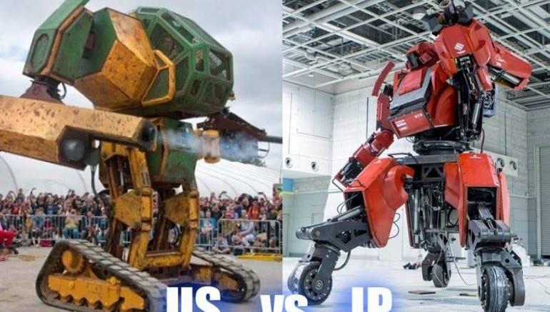 (Видео) В Японии прошла битва боевых человекоподобных роботов