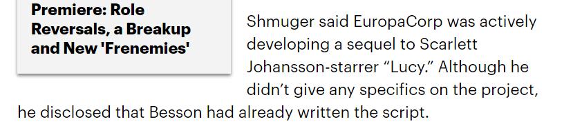 Люк Бессон опроверг слова журналистов: он не работает над продолжением «Люси» 2