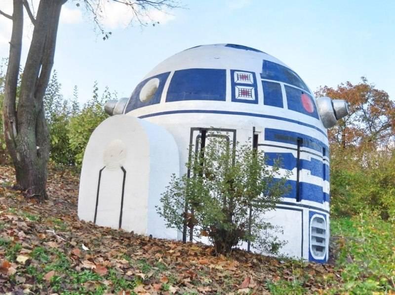 Фото: R2-D2 в пражском парке Фолиманка 2