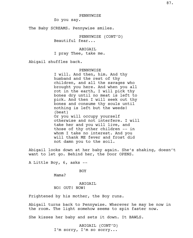 Какую самую страшную сцену вырезали из фильма «Оно»? 2