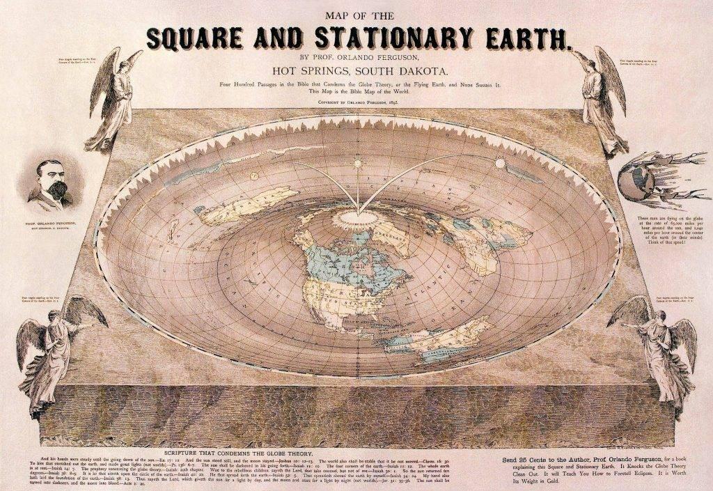 Карта плоской Земли