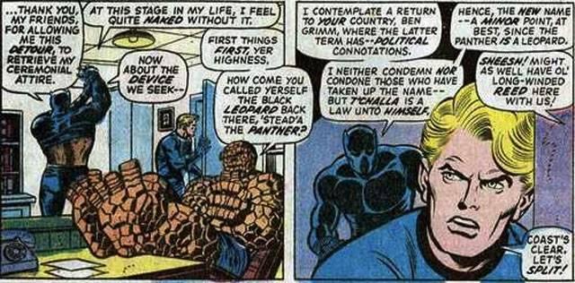 Чёрная Пантера в комиксах воевал с Ку-клукс-кланом и Фантастической четвёркой 22