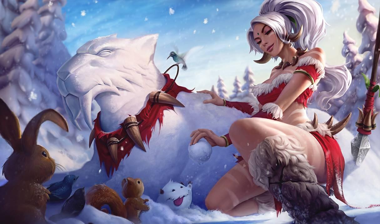 Косплей: снежный кролик Нидали из League of Legends 2