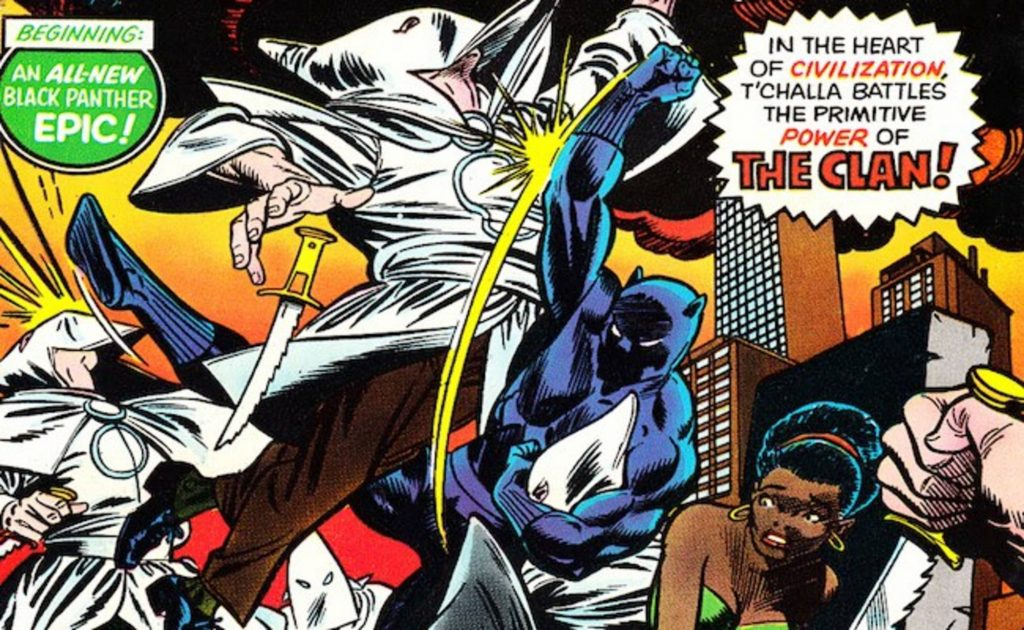 Чёрная Пантера в комиксах воевал с Ку-клукс-кланом и Фантастической четвёркой 20