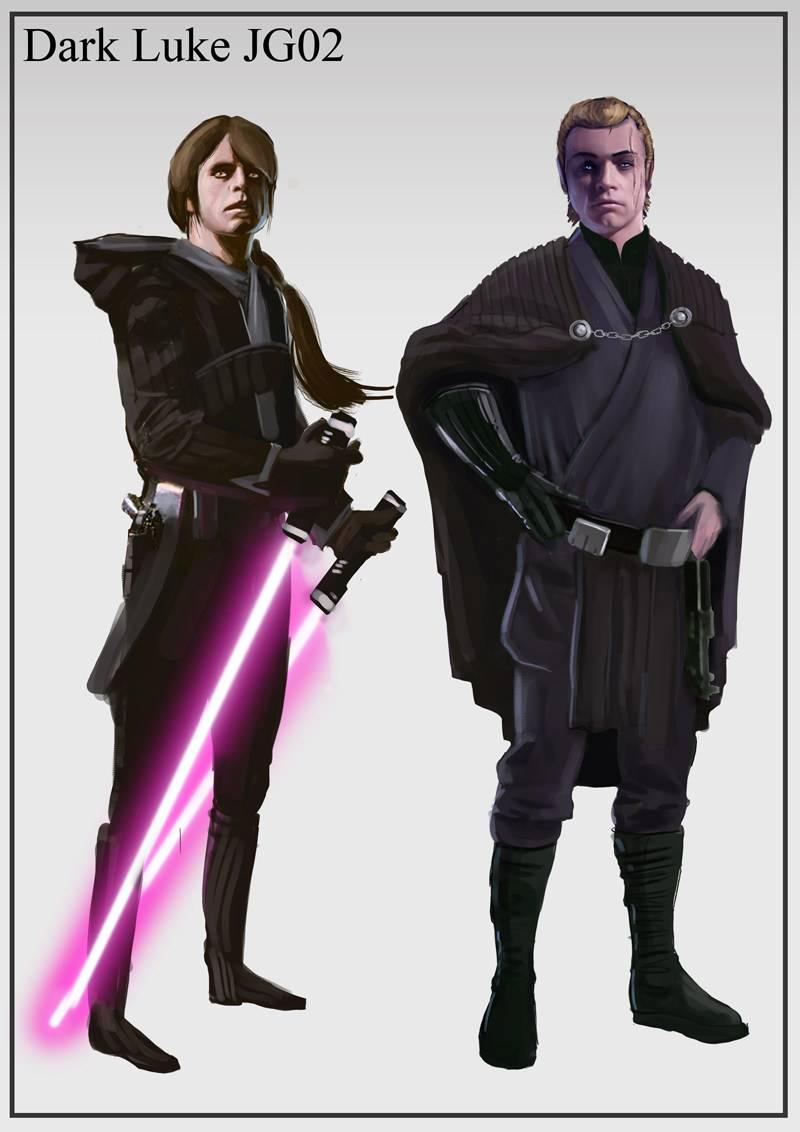 Арт: вот как выглядели бы Люк и Лея на Тёмной стороне и Дарт Вейдер — на Светлой 15
