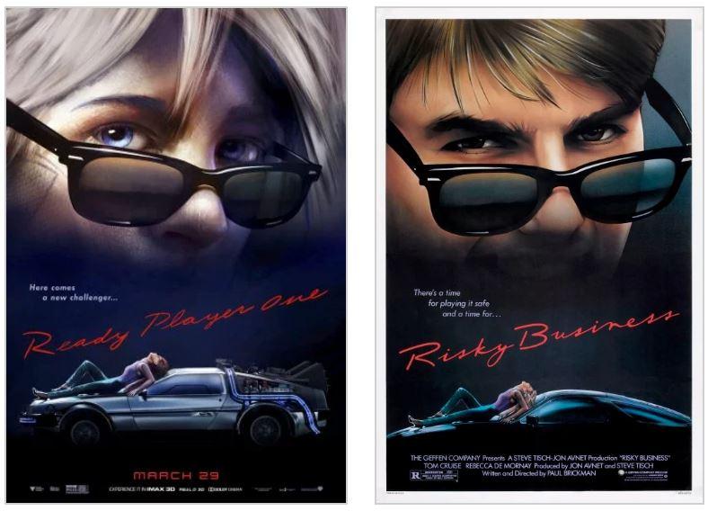 Арт: постеры-отсылки фильма «Первому игроку приготовиться» 3