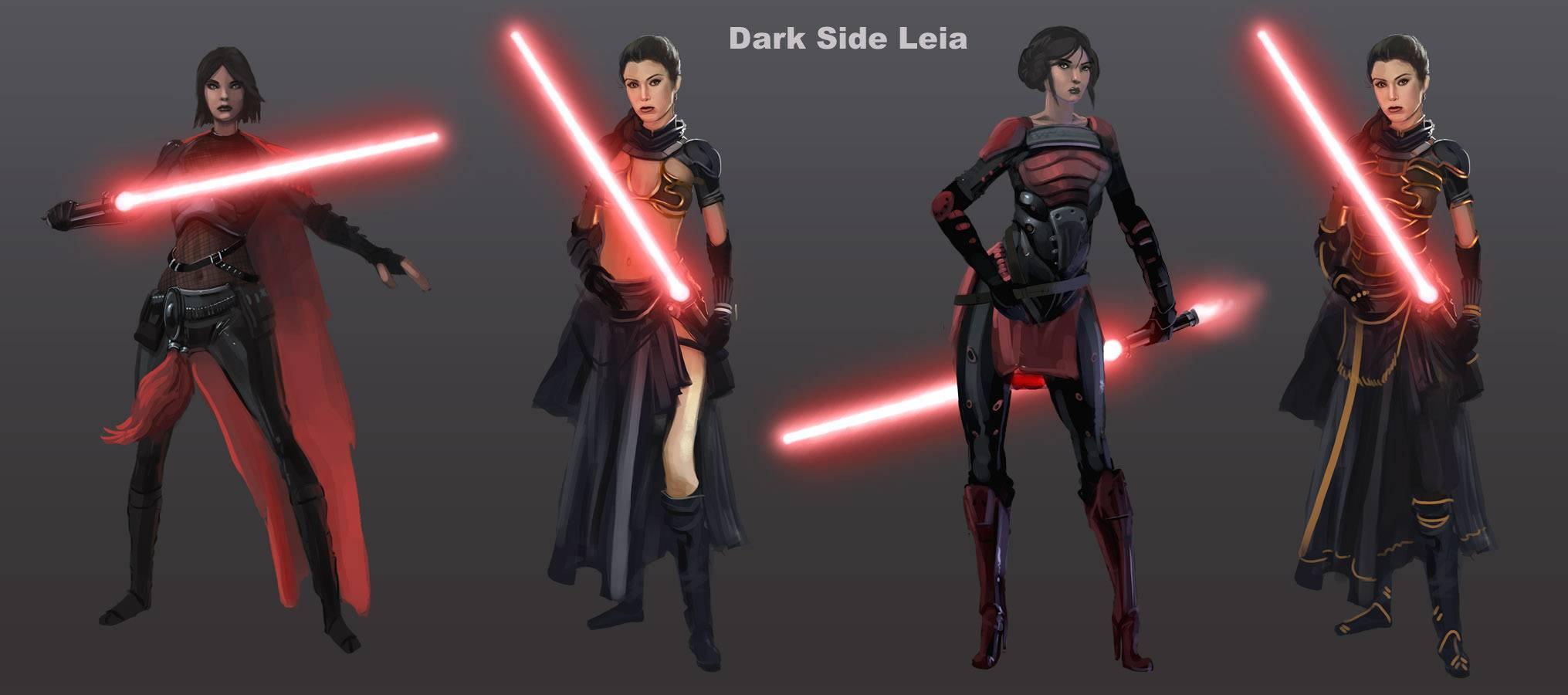 Арт: вот как выглядели бы Люк и Лея на Тёмной стороне и Дарт Вейдер — на Светлой 8