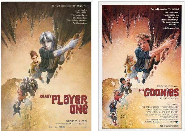Арт: постеры-отсылки фильма «Первому игроку приготовиться» 1