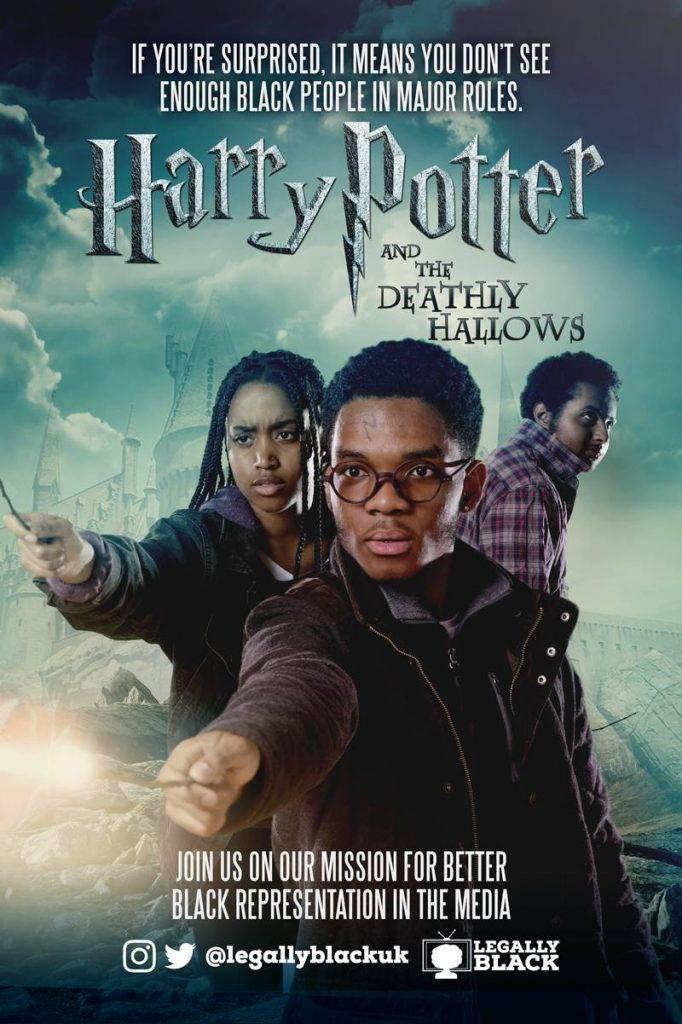 Доктор Кто и Гарри Поттер стали чёрными на этих плакатах 1
