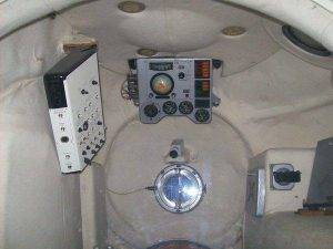 Внутри тренажёра корабля «Восток»