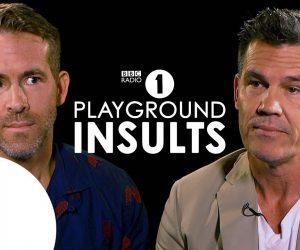 Райан Рейнольдс и Джош Бролин подкалывают друг друга в Playground Insults