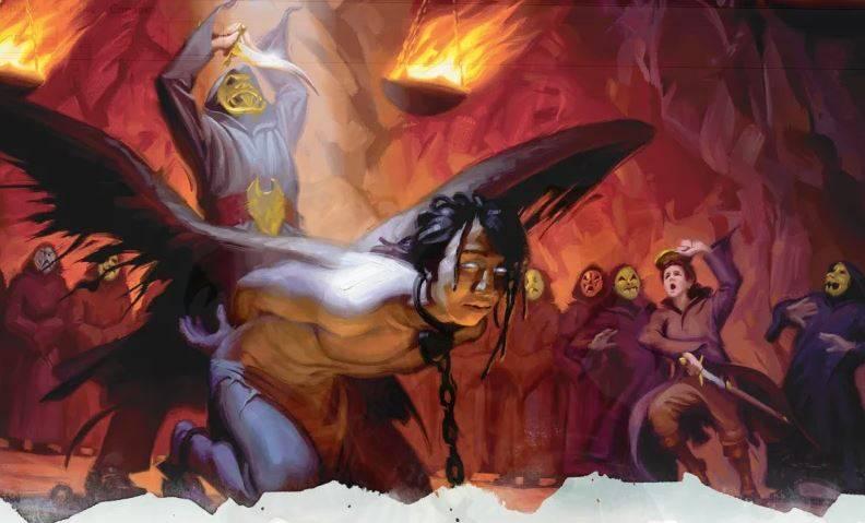 Арт: демоны, монстры и могущественный волшебник в новой книге Dungeons & Dragons 16