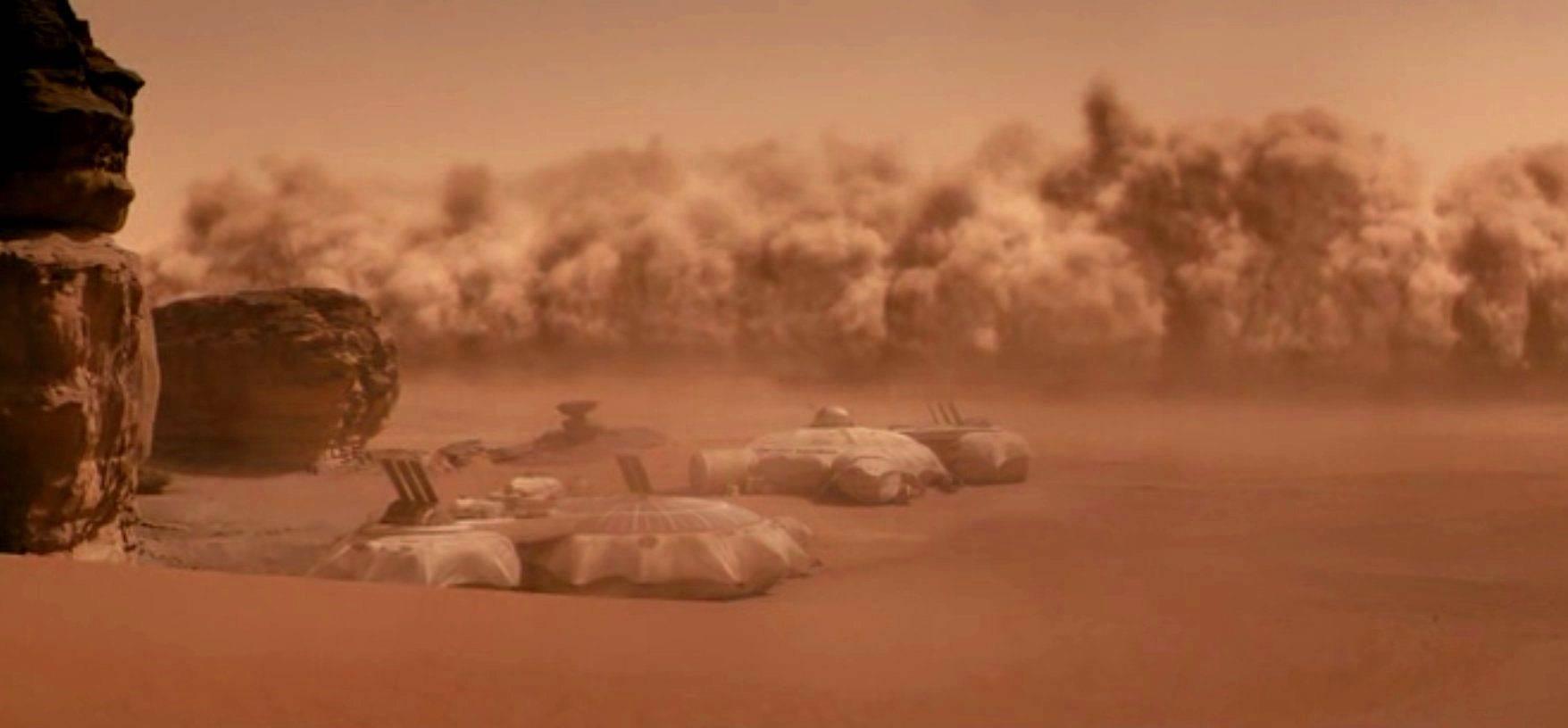 На Марсе началась пылевая буря планетарного масштаба