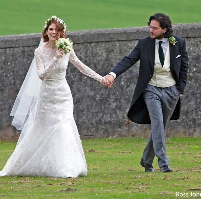 Фото: свадьба Кита Харингтона и Роуз Лесли. Теперь Джону Сноу предстоит многое узнать! 3