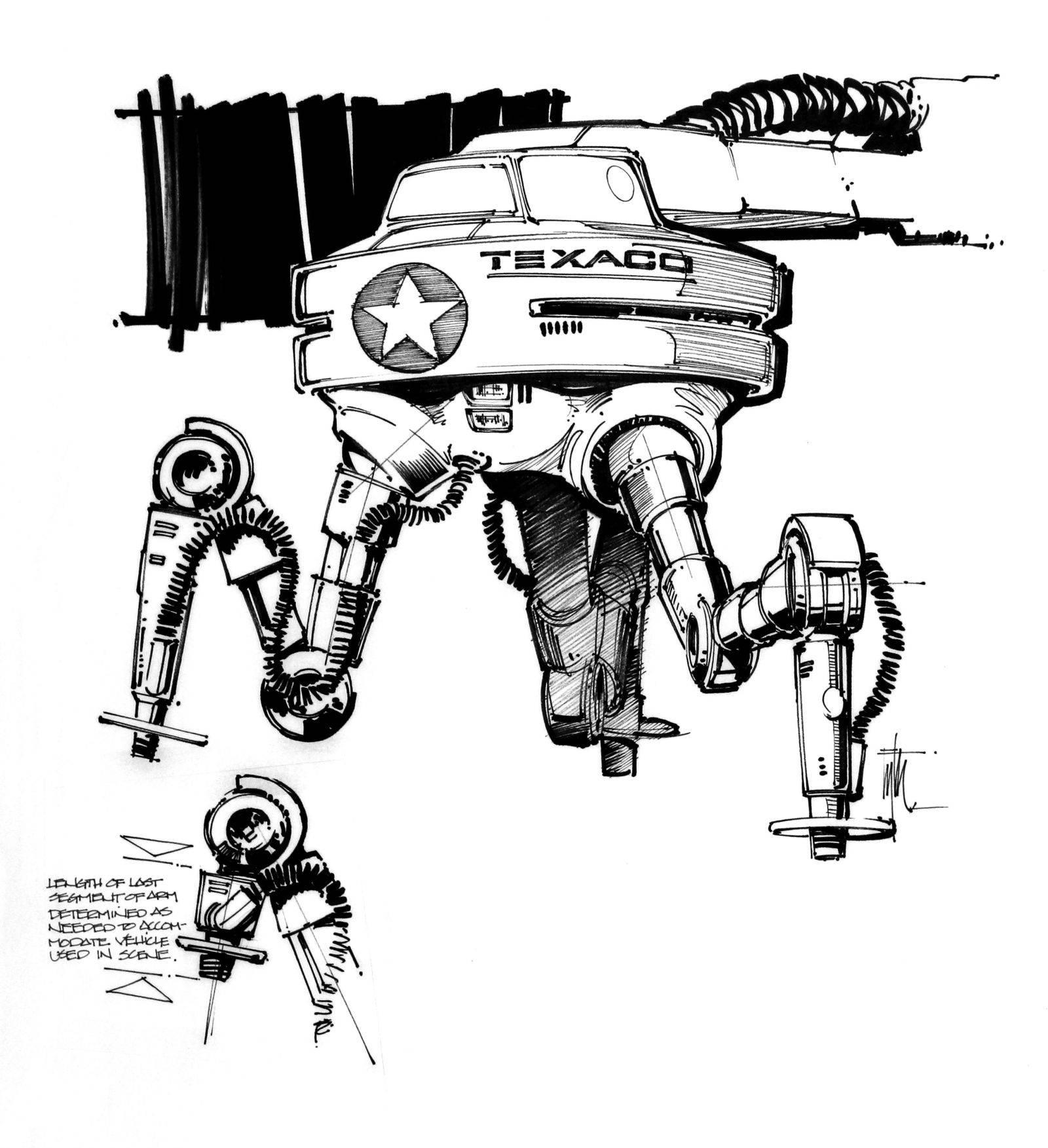 Техника из «Назад в будущее 2» на концепт-артах 16