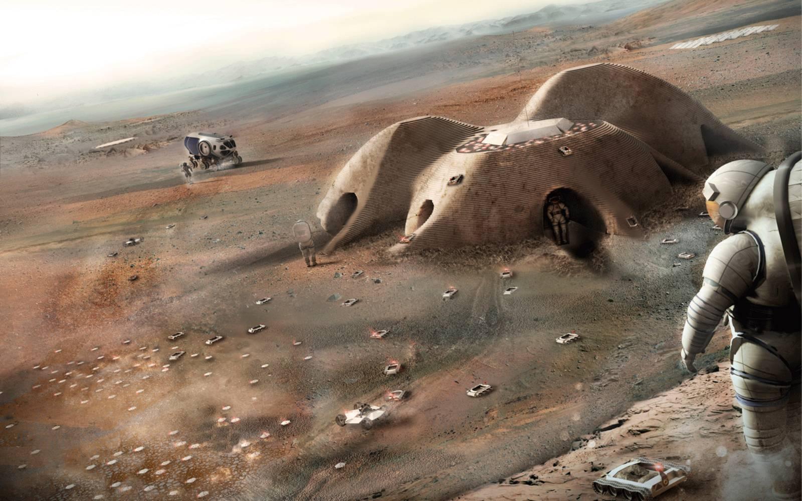 NASA показала проекты жилья для астронавтов на Марсе