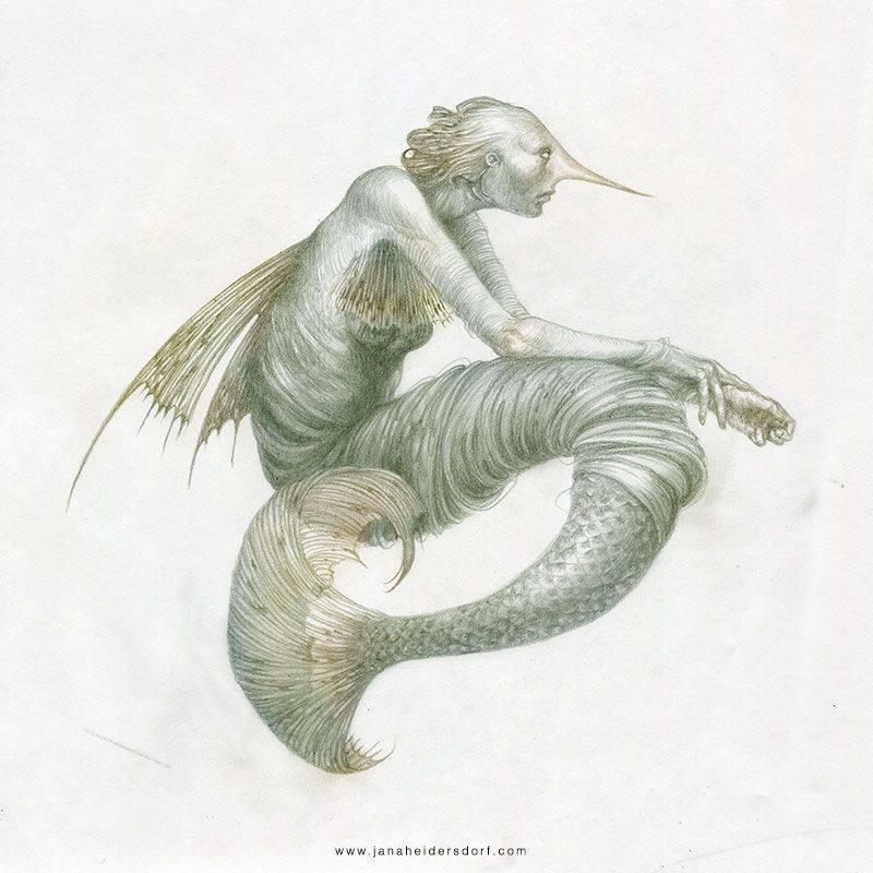 Мистические рисунки Яны Хайденсдорф