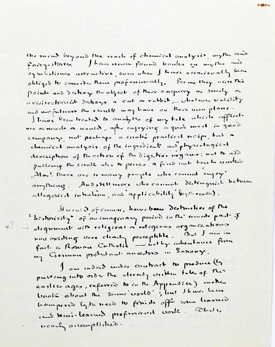 Книжный дилер продаёт письмо Толкина к читательнице за 48 тысяч долларов 2