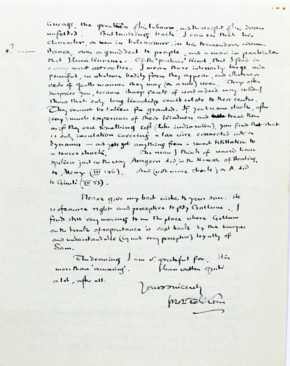 Книжный дилер продаёт письмо Толкина к читательнице за 48 тысяч долларов 4