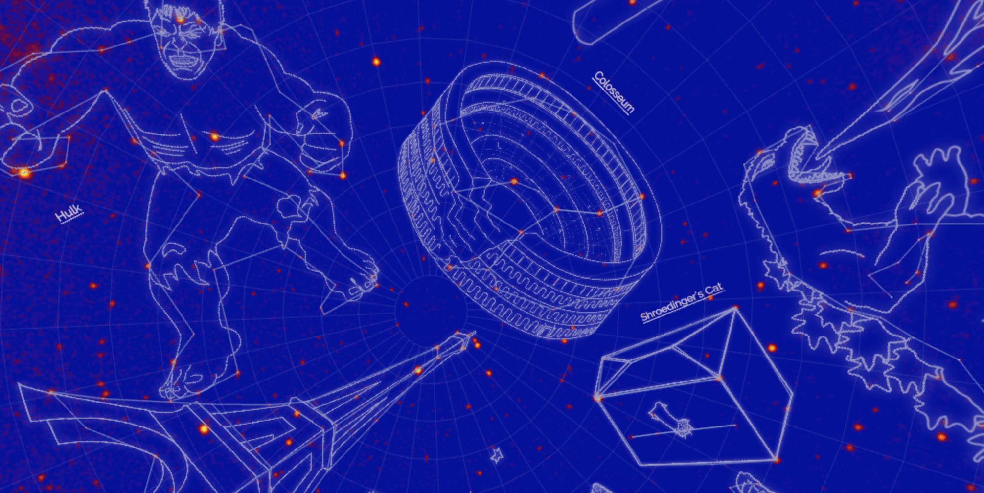 Учёные NASA составили карту гик-созвездий