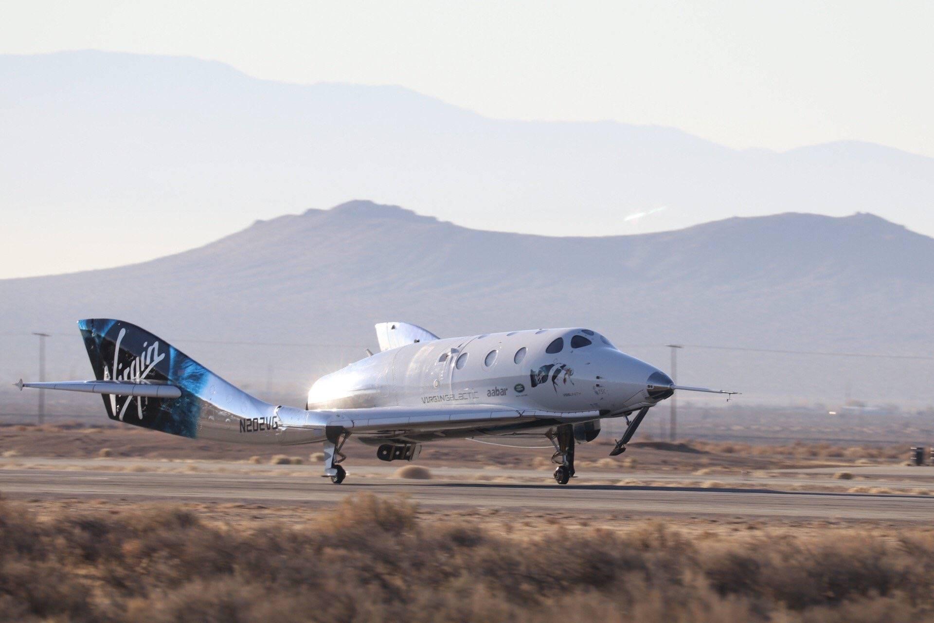 Корабль частной компании Virgin Galactic впервые достиг границ космоса