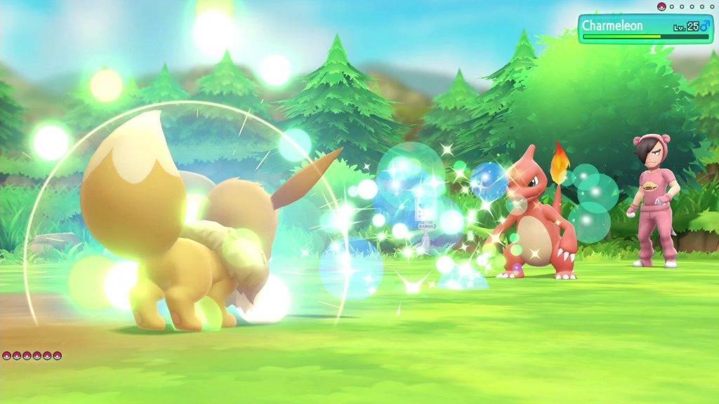Пикачу, Иви, Слоупок. Обзор Pokémon: Let's Go 6