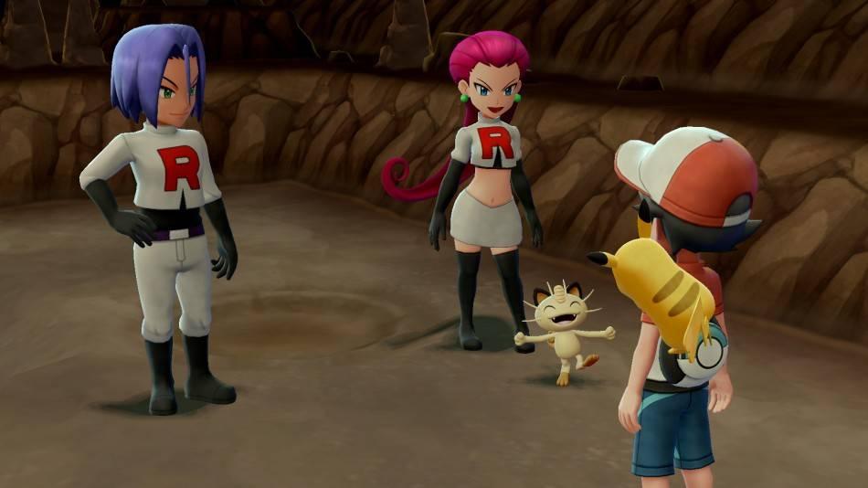 Пикачу, Иви, Слоупок. Обзор Pokémon: Let's Go 5