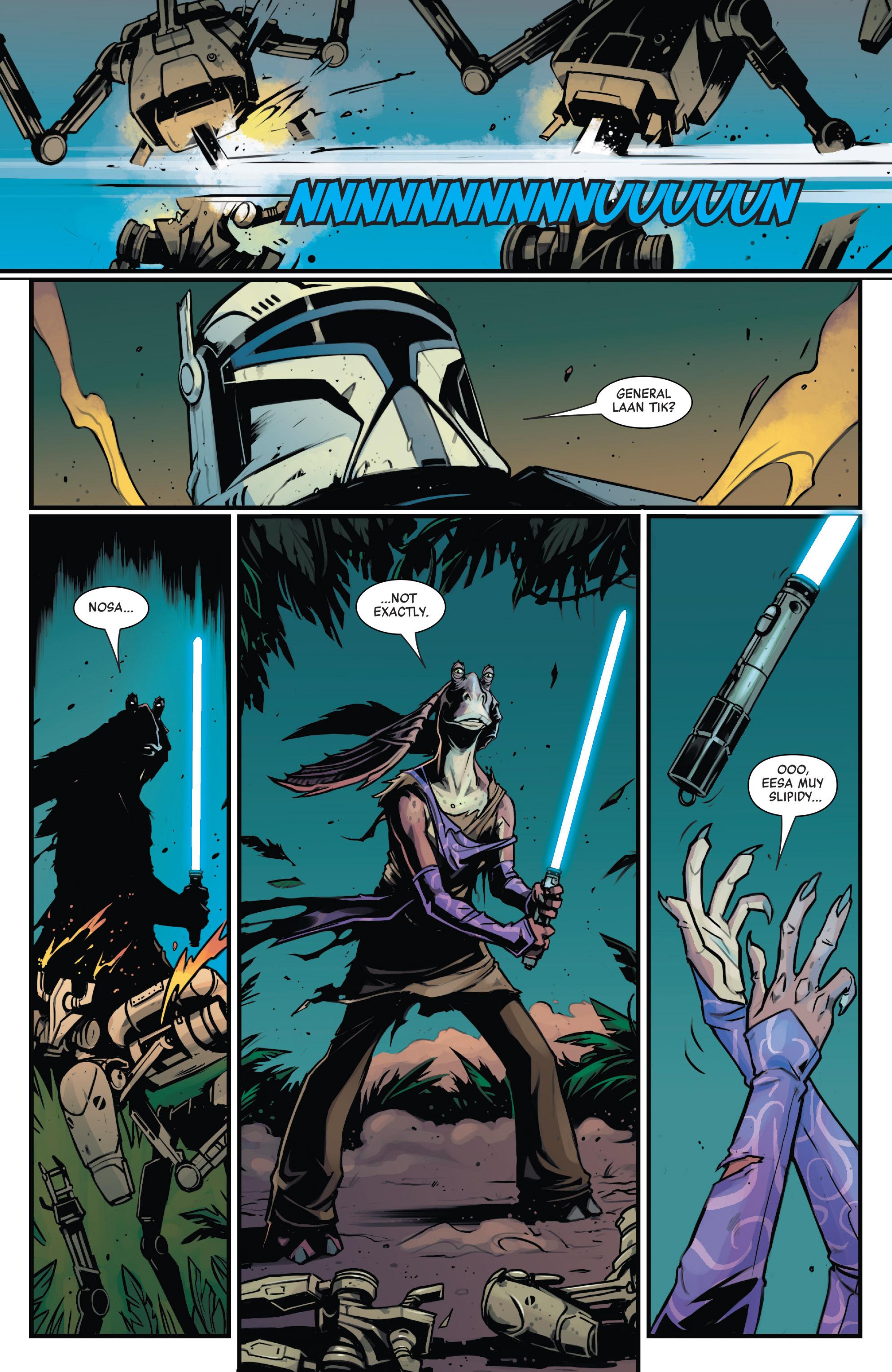 В комиксах Джа-Джа Бинксу наконец-то дали световой меч! Но не надолго 1