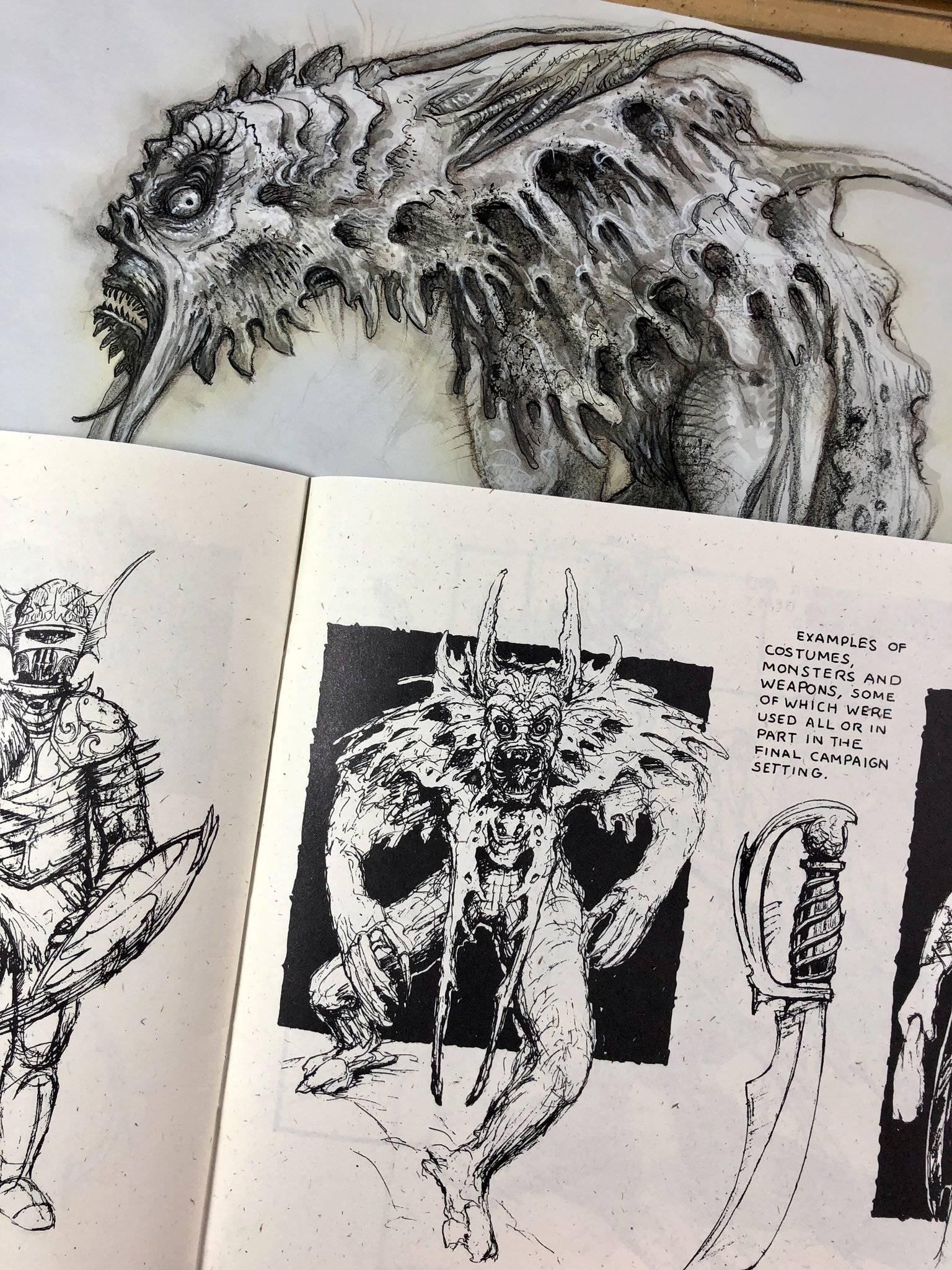 Арт: художник Planescape опубликовал ранние скетчи к 25-летию вселенной 15