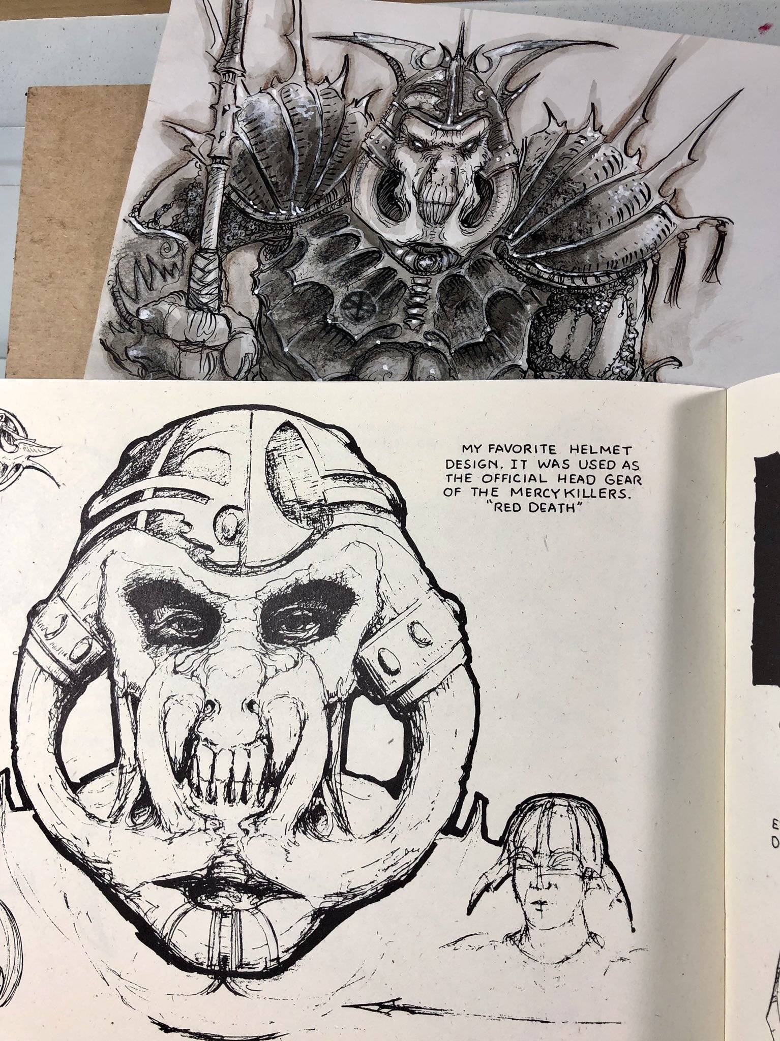 Арт: художник Planescape опубликовал ранние скетчи к 25-летию вселенной 14