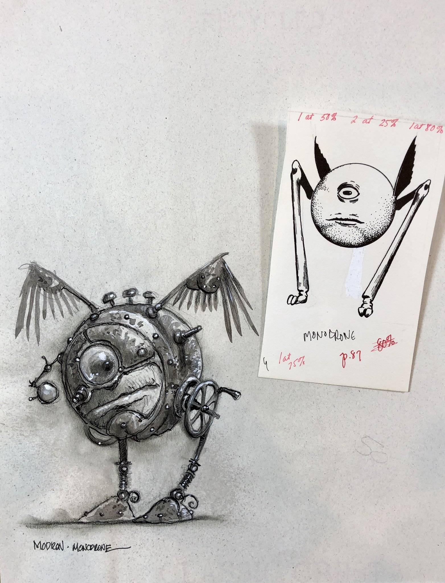 Арт: художник Planescape опубликовал ранние скетчи к 25-летию вселенной 18