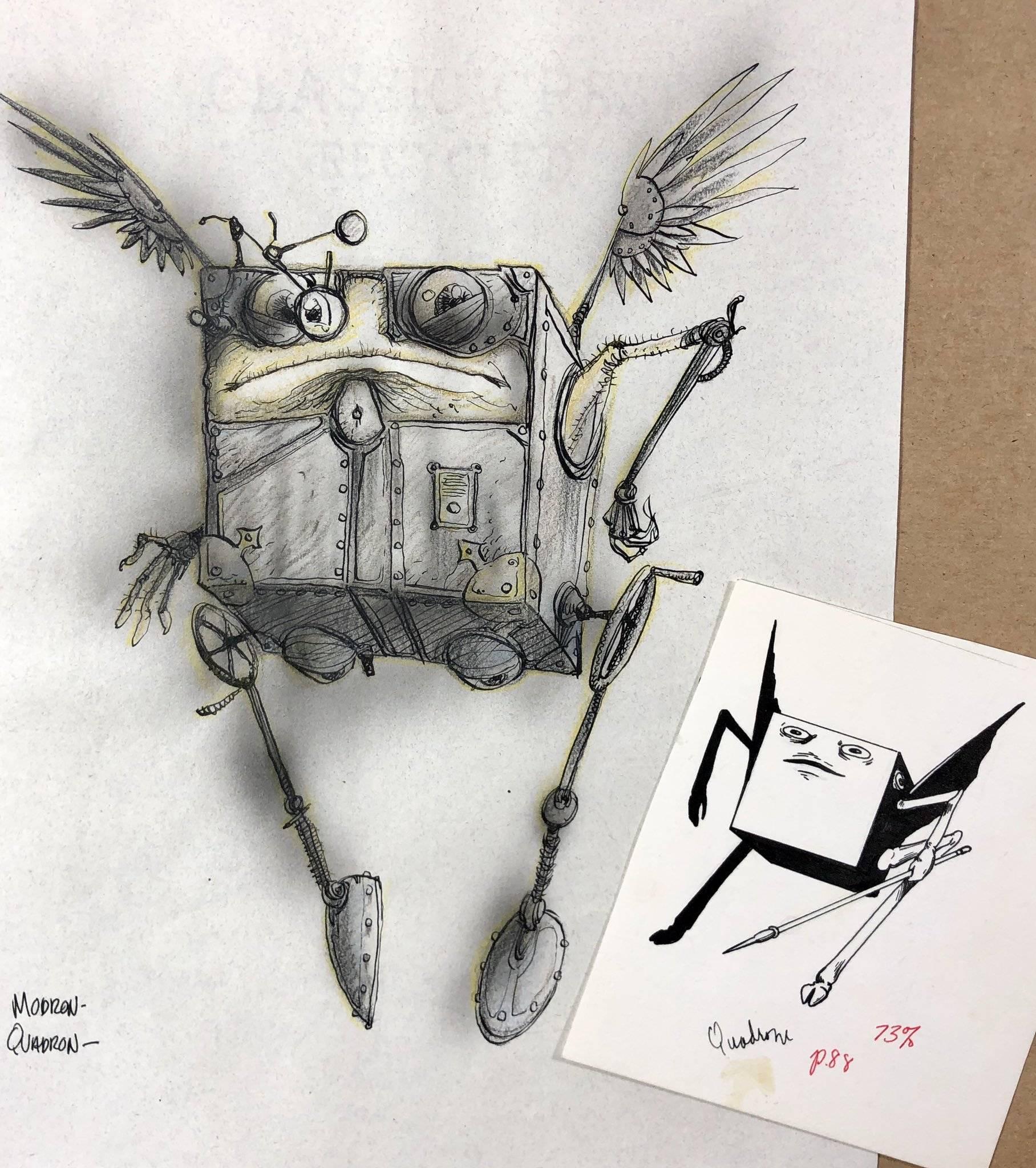 Арт: художник Planescape опубликовал ранние скетчи к 25-летию вселенной 19