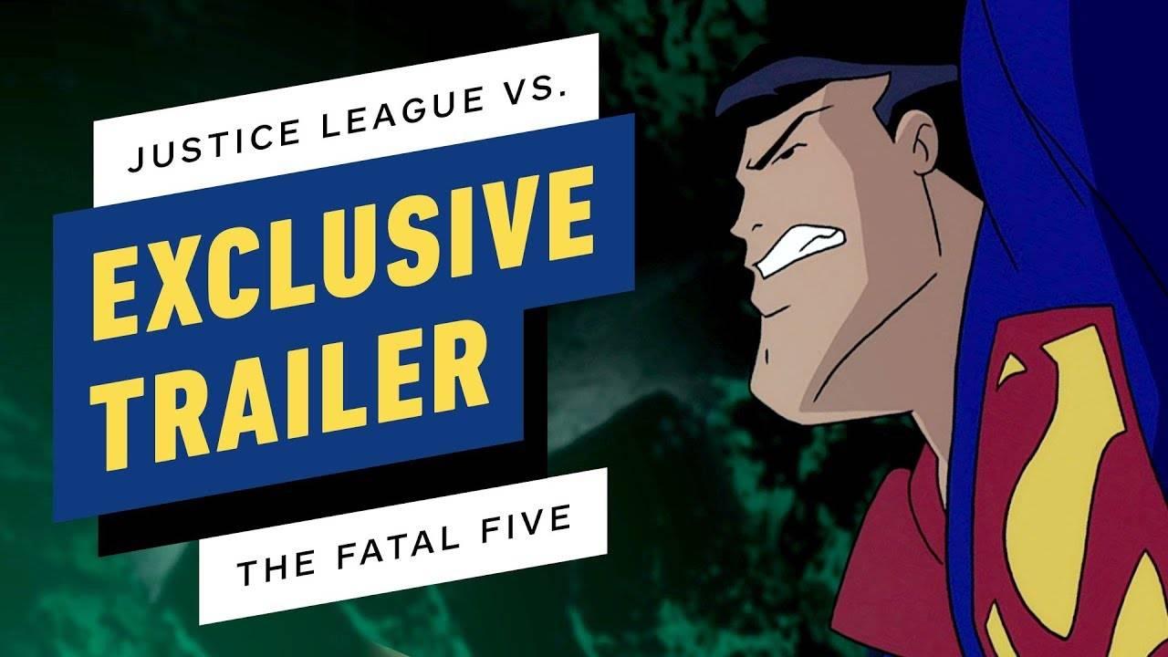 Трейлер мультфильма «Лига Справедливости против Роковой пятёрки»