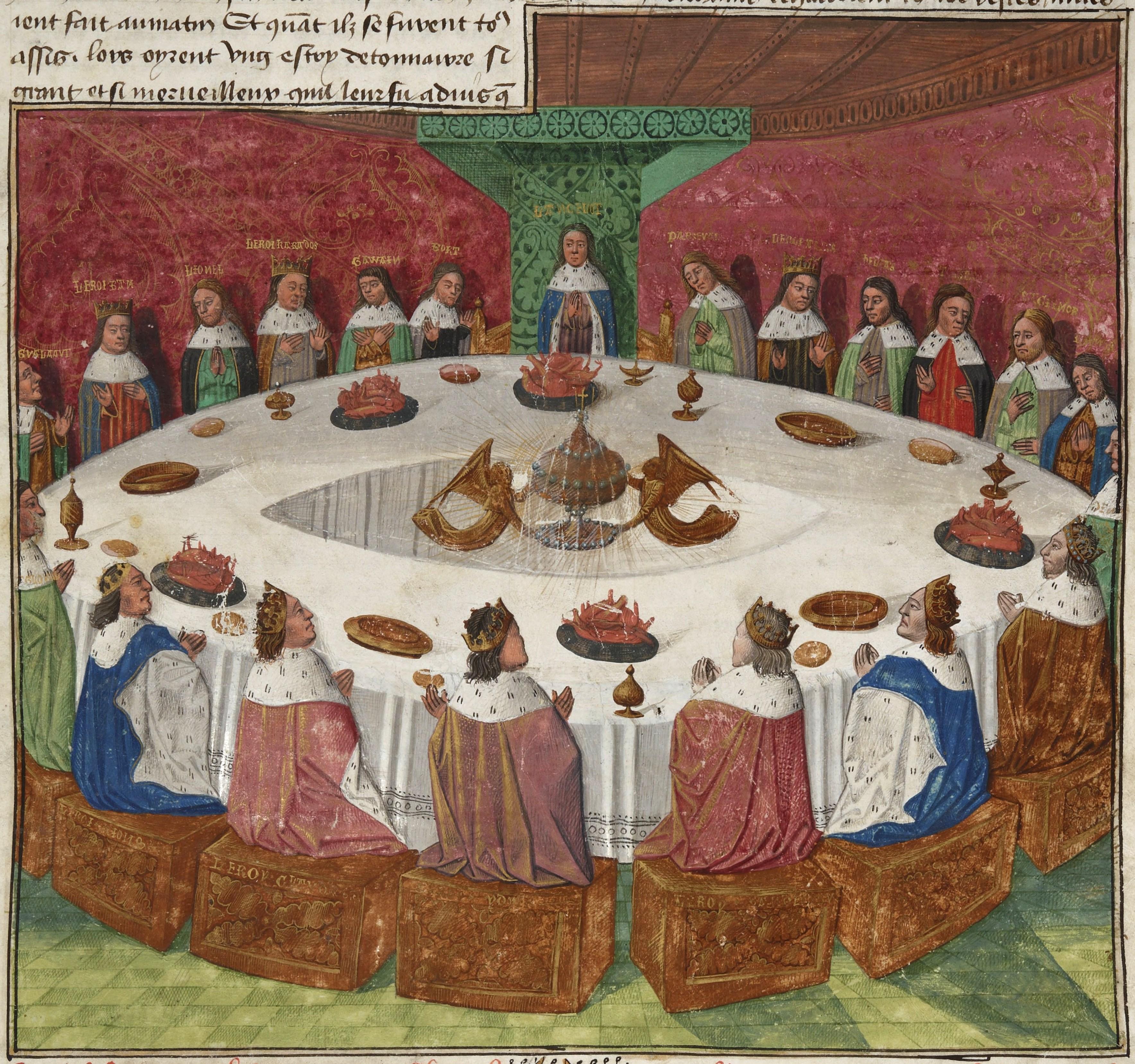 картинки с круглым столом короля артура
