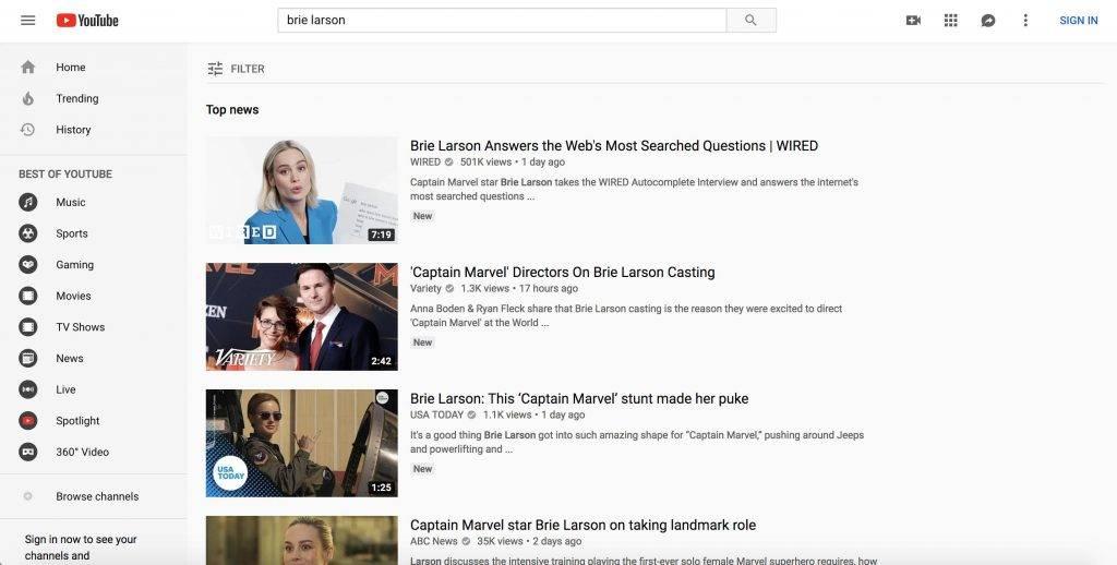 YouTube и Rotten Tomatoes изменили алгоритмы после нападок на «Капитана Марвел»из-за высказываний Бри Ларсон 2
