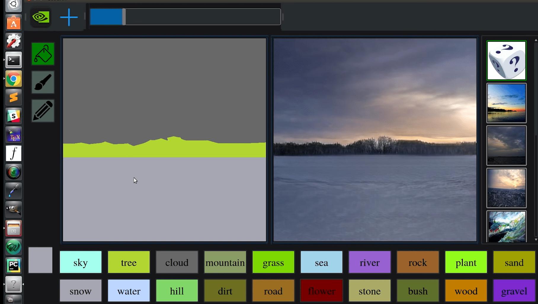 Nvidia разработала графический редактор на основе нейросетей, превращающий эскизы в фотографии