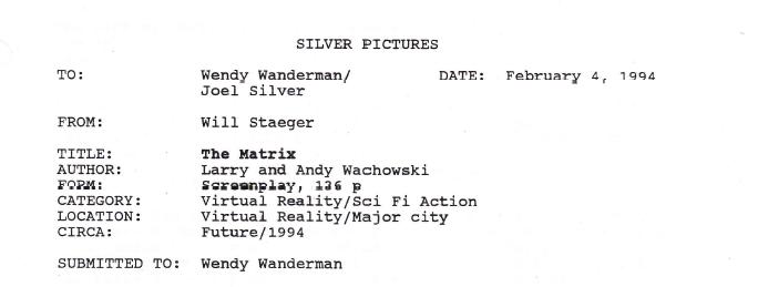 «Ничего не понятно»: как на студии разгромили первый сценарий «Матрицы»