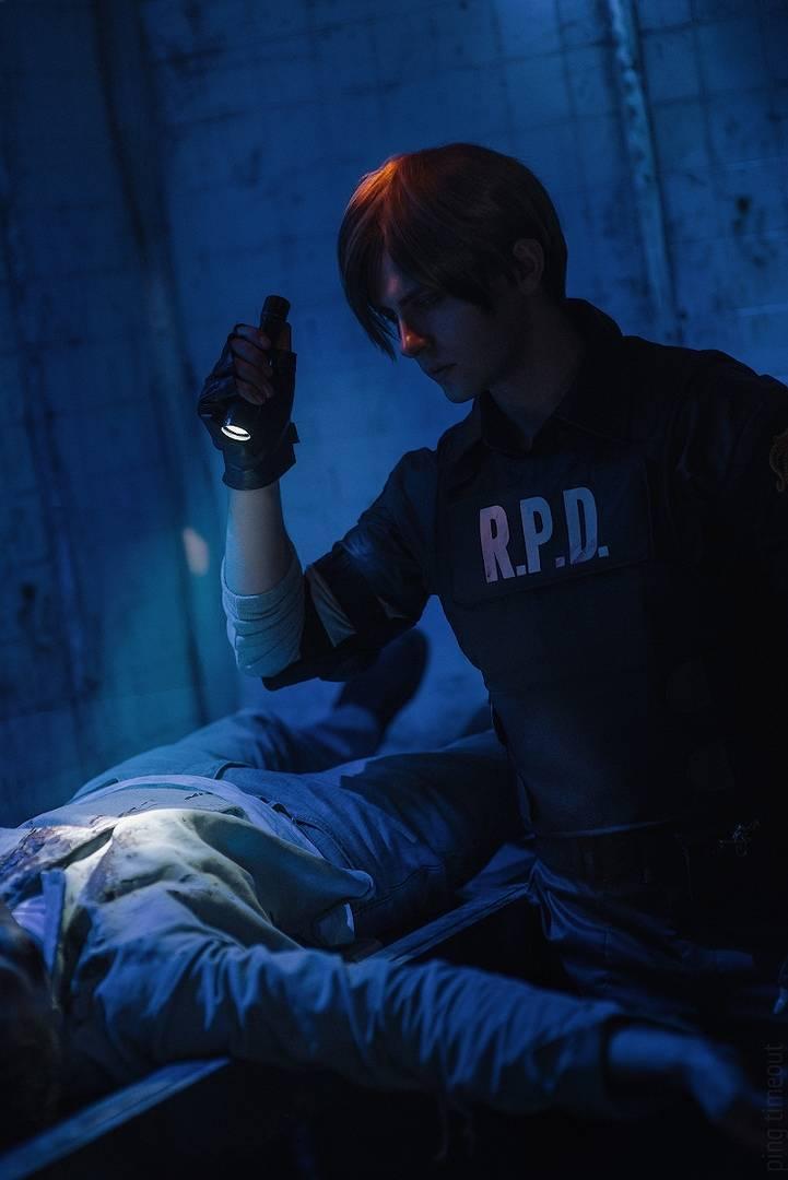 Косплей: Леон Кеннеди из Resident Evil 2 8
