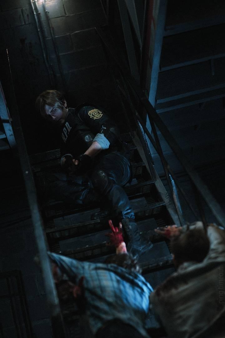 Косплей: Леон Кеннеди из Resident Evil 2 6