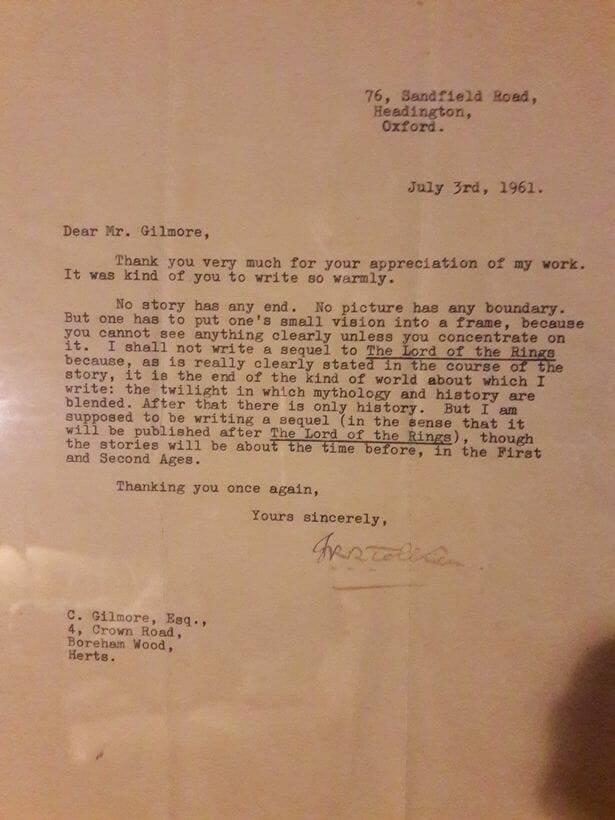 Письмо Толкина раскрыло, почему писатель не стал создавать продолжение «Властелина колец» 1
