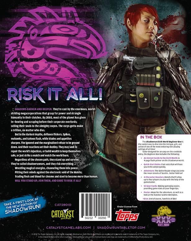 Catalyst анонсировали шестую редакцию настольной ролевой игры Shadowrun 2