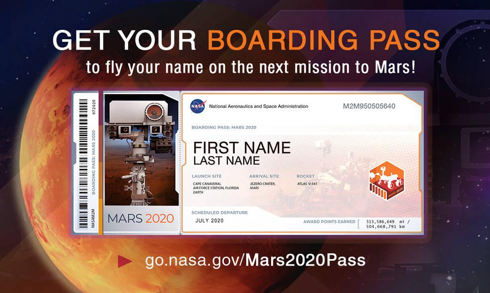NASA предлагает всем желающим отправить своё имя на Марс 1