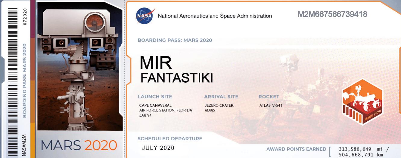 NASA предлагает всем желающим отправить своё имя на Марс