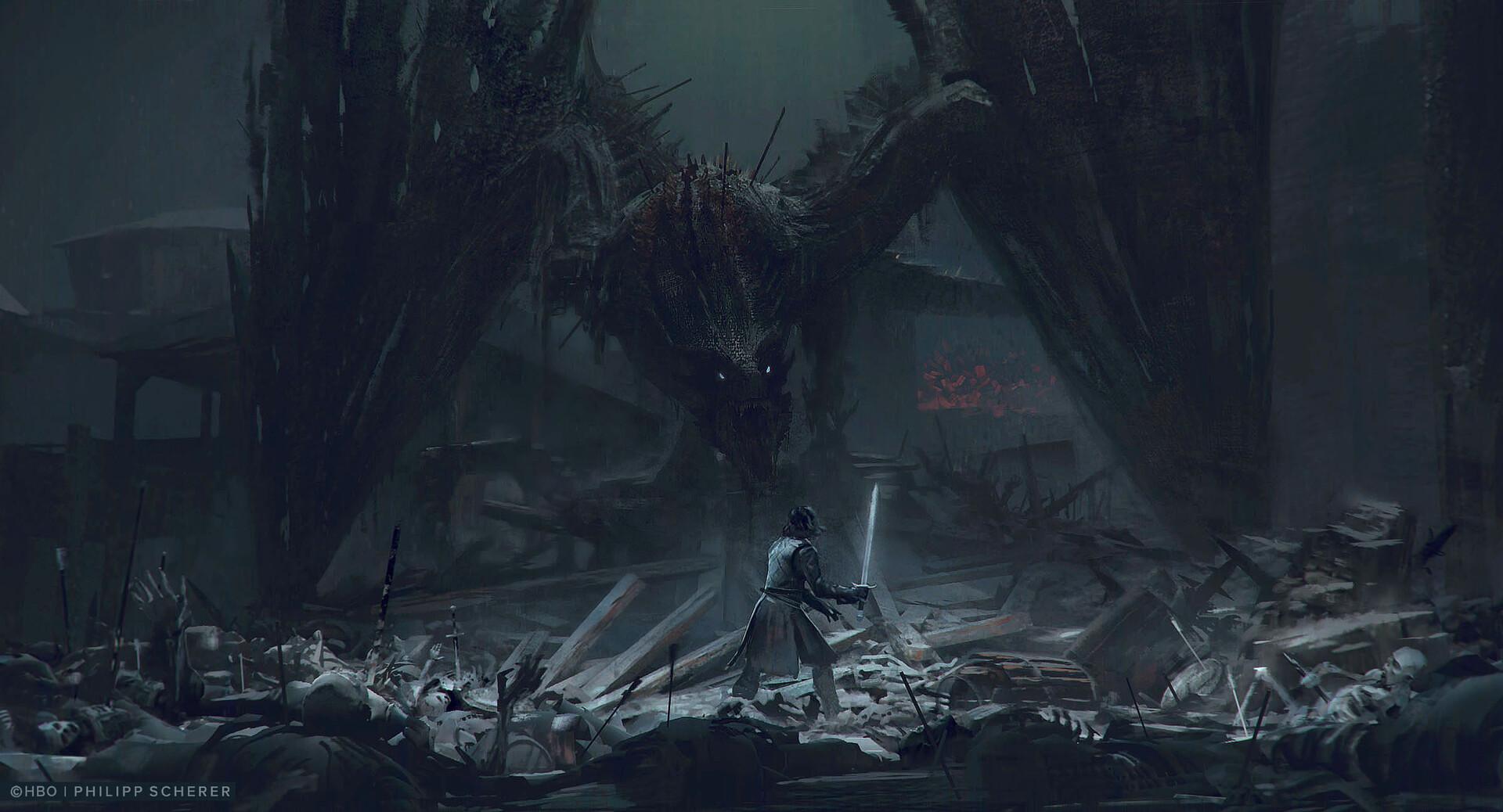 Концепт-арт: иллюстрации к восьмому сезону «Игры престолов» 4