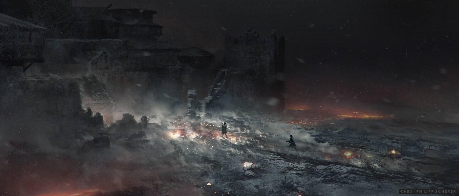 Концепт-арт: иллюстрации к восьмому сезону «Игры престолов» 5